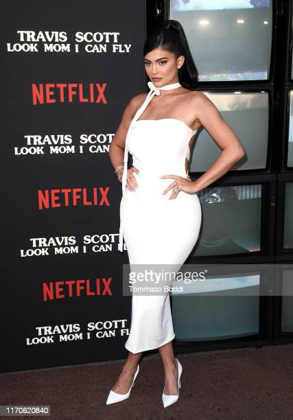 "Kylie Jenner attends the Travis Scott: ""Look Mom I Can Fly"" Los Angeles Premiere at The Barker Hanger on August 27, 2019 in Santa Monica, California."