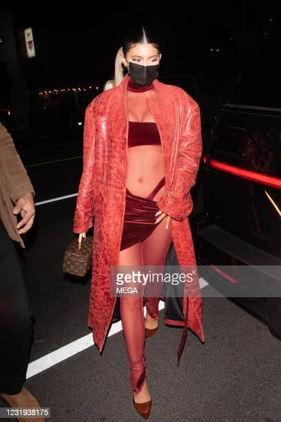 Kylie Jenner is seen arriving at The Nice Guy on March 25, 2021 in West Hollywood, California.