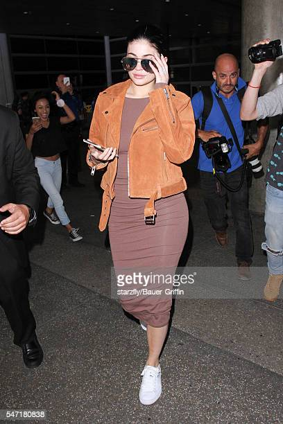 Kylie Jenner is seen at LAX on July 13 2016 in Los Angeles California