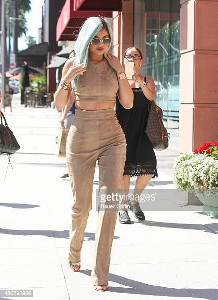 Kylie Jenner is seen on July 10 2015 in Los Angeles California