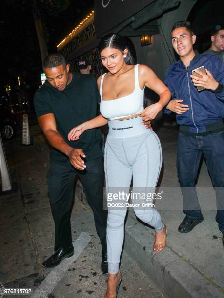 Kylie Jenner is seen on June 16 2018 in Los Angeles California