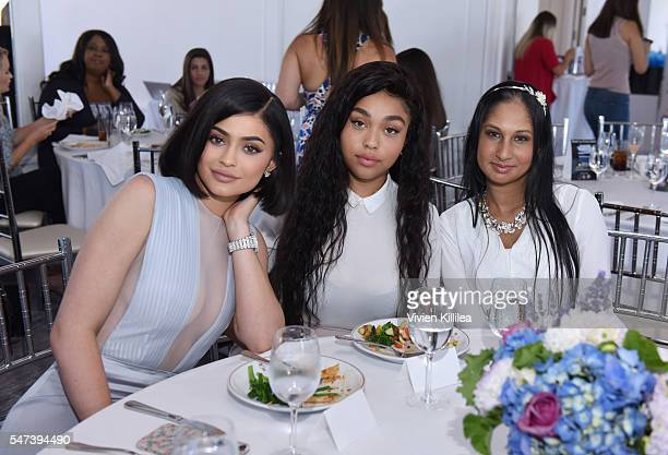 Kylie Jenner Jordyn Woods and Aisha Singh attend SinfulColors and Kylie Jenner Announce charitybuzzcom Auction for Anti Bullying on July 14 2016 in...