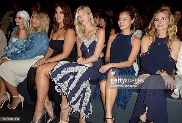Kylie Jenner Jordyn Woods Ashley Graham Devon Windsor Jamie Chung and Olivia Palermo attend the Jonathan Simkhai fashion show during New York Fashion...