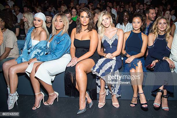 Kylie Jenner Jordyn Woods Ashley Graham Devon Windsor Jamie Chung and Olivia Palermo attend the Jonathan Simkhai fashion show during September 2016...