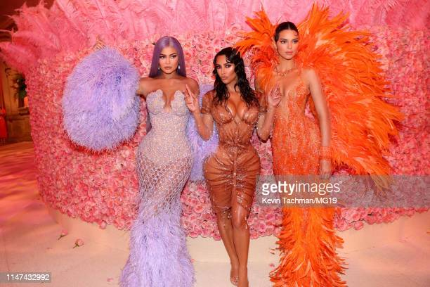 Kylie Jenner Kim Kardashian West and Kendall Jenner attend The 2019 Met Gala Celebrating Camp Notes on Fashion at Metropolitan Museum of Art on May...