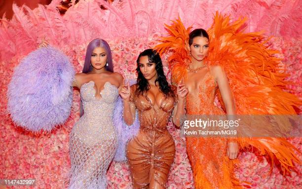 Kylie Jenner, Kim Kardashian West, and Kendall Jenner attend The 2019 Met Gala Celebrating Camp: Notes on Fashion at Metropolitan Museum of Art on...