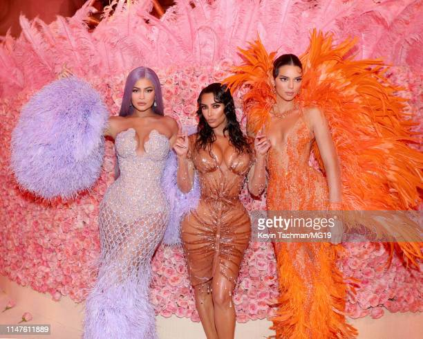 Kylie Jenner, Kim Kardashian West and Kendall Jenner attend The 2019 Met Gala Celebrating Camp: Notes on Fashion at Metropolitan Museum of Art on May...