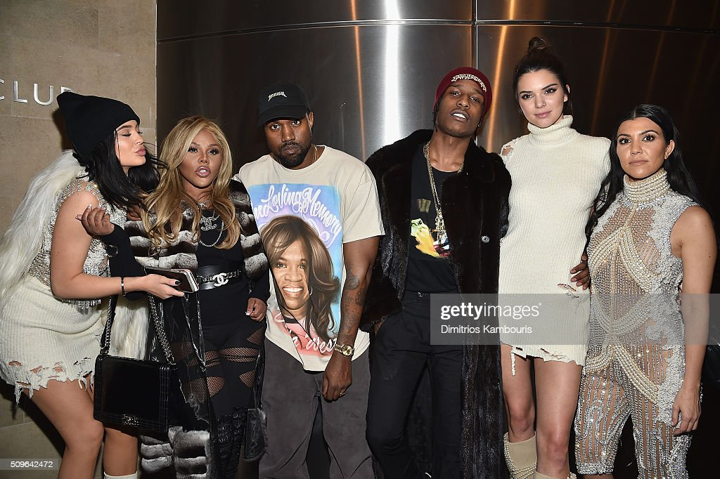 Kylie Jenner, Lil' Kim, Kanye West, ASAP Rocky, Kendall Jenner and Kourtney Kardashian attend Kanye West Yeezy Season 3 on February 11, 2016 in New York City.