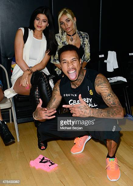 Kylie Jenner Pia Mia Tyga attends LA Gear Presents Sports Spectacular Charity Basketball Game Hosted By Tyga on May 30 2015 in Los Angeles California