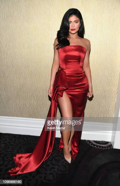 Kylie Jenner poses during the PreGRAMMY Gala and GRAMMY Salute to Industry Icons Honoring Clarence Avant at The Beverly Hilton Hotel on February 9...
