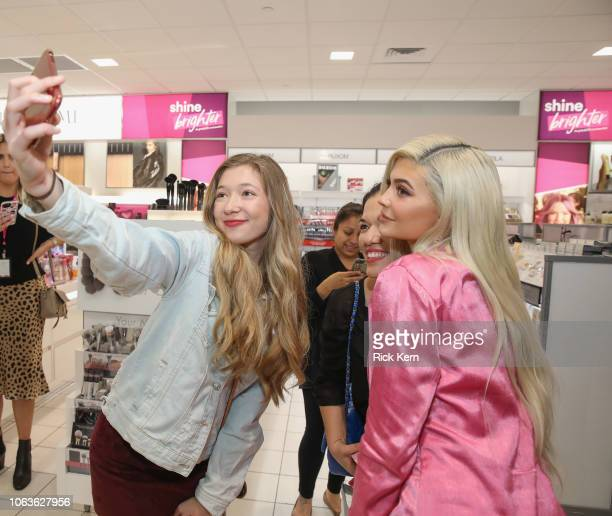 Kylie Jenner visits Houston Ulta Beauty to promote the exclusive launch of Kylie Cosmetics with the beauty retailer starting this month on November...