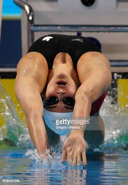 Kylie Masse of Canada competes in her preliminary heat of the 100m Backstroke on day one of the 13th FINA World Swimming Championships at the WFCU...