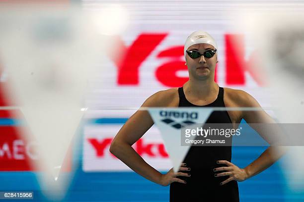 Kylie Masse of Canada prepares to compete in the 100m Backstroke final on day two of the 13th FINA World Swimming Championships at the WFCU Centre on...