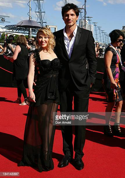 Kylie Minogue and Andres Velencoso arrives at the 2011 ARIA Awards at Allphones Arena on November 27 2011 in Sydney Australia