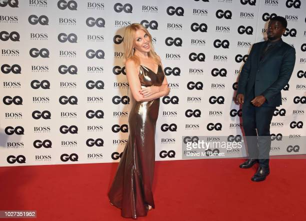 Kylie Minogue and Daniel Kaluuya attend the GQ Men of the Year Awards 2018 in association with HUGO BOSS at Tate Modern on September 5 2018 in London...
