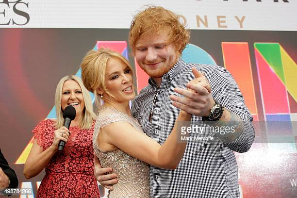 Kylie Minogue and Ed Sheeran dance on the red carpet ahead of the 29th Annual ARIA Awards 2015 at The Star on November 26 2015 in Sydney Australia