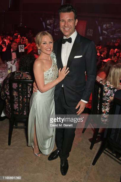 Kylie Minogue and Paul Solomons attend the the GQ Men Of The Year Awards 2019 in association with HUGO BOSS at the Tate Modern on September 3, 2019...