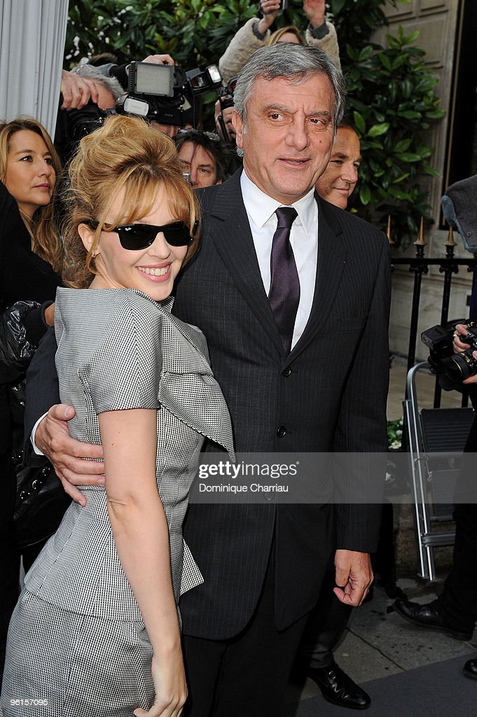 Kylie Minogue and Sidney Toledano attend the Christian Dior Haute-Couture show as part of the Paris Fashion Week Spring/Summer 2010 on January 25, 2010 in Paris, France.