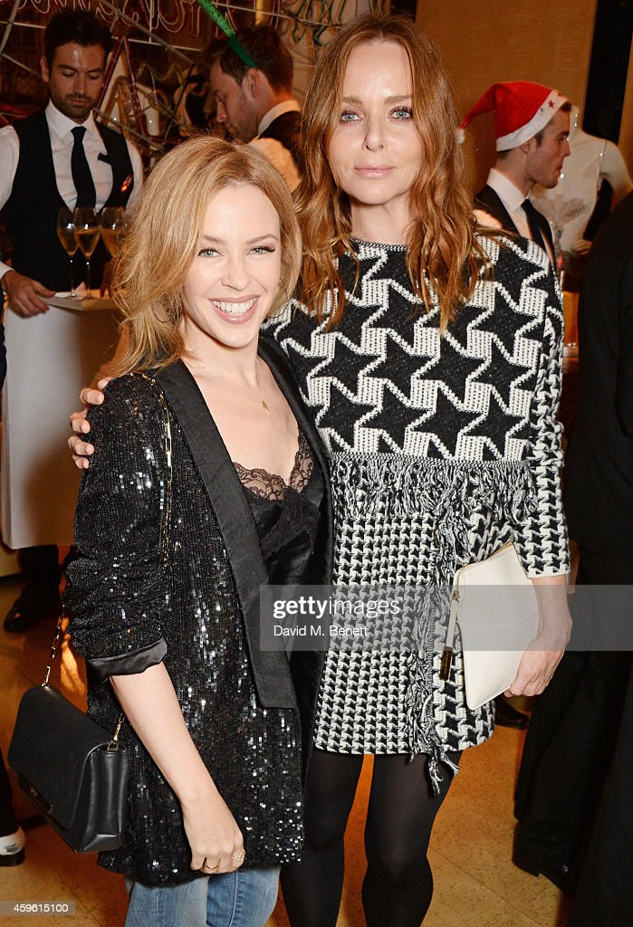 Kylie Minogue (L) and Stella McCartney attends the Stella McCartney Christmas Lights Switch On at the Stella McCartney Bruton Street Store on November 26, 2014 in London, England.