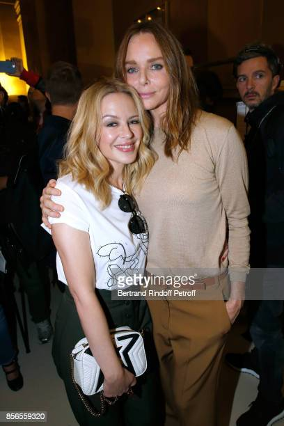 Kylie Minogue and Stylist Stella McCartney pose Backstage after the Stella McCartney show as part of the Paris Fashion Week Womenswear Spring/Summer...