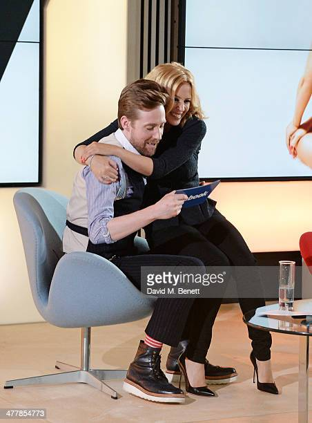 Kylie Minogue answers questions from fans across the globe live on Facebook with fellow The Voice judge Ricky Wilson at Facebook London on March 11...