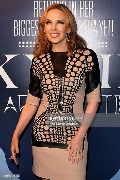 Kylie Minogue arrives at a Warner Music Australia party at Wildfire Circular Quay on June 6 2011 in Sydney Australia