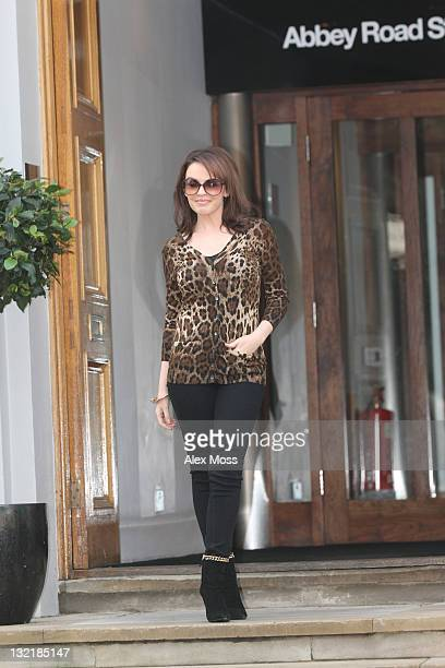 Kylie Minogue Arrives at Abbey Road Studios on November 10 2011 in London England