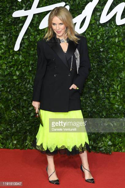 Kylie Minogue arrives at The Fashion Awards 2019 held at Royal Albert Hall on December 02, 2019 in London, England.