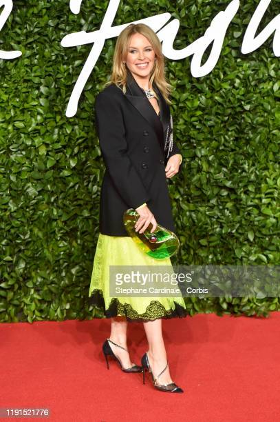 Kylie Minogue arrives at The Fashion Awards 2019 held at Royal Albert Hall on December 02 2019 in London England