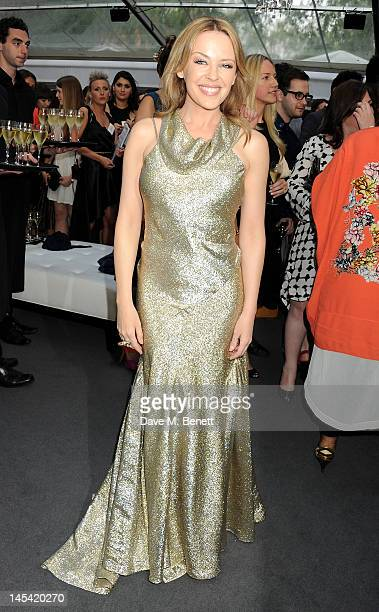 Kylie Minogue arrives at the Glamour Women of the Year Awards in association with Pandora at Berkeley Square Gardens on May 29 2012 in London England
