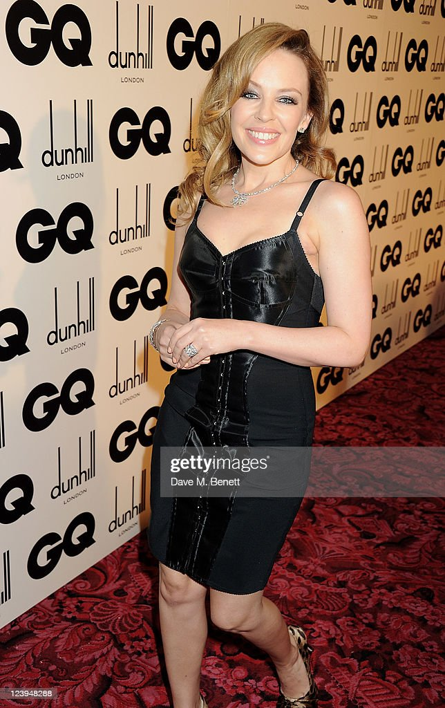 Kylie Minogue arrives at the GQ Men Of The Year Awards 2011 at The Royal Opera House on September 6, 2011 in London, England.