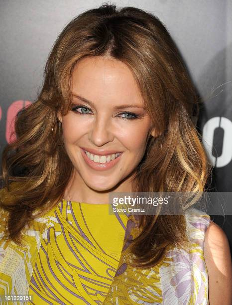Kylie Minogue arrives at the Roc Nation PreGRAMMY Brunch at Soho House on February 9 2013 in West Hollywood California