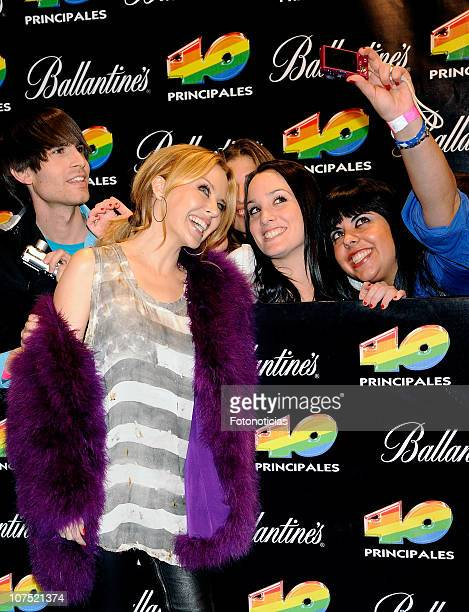 Kylie Minogue arrives to the '40 Principales Awards 2010' at the Palacio de Deportes on December 10 2010 in Madrid Spain