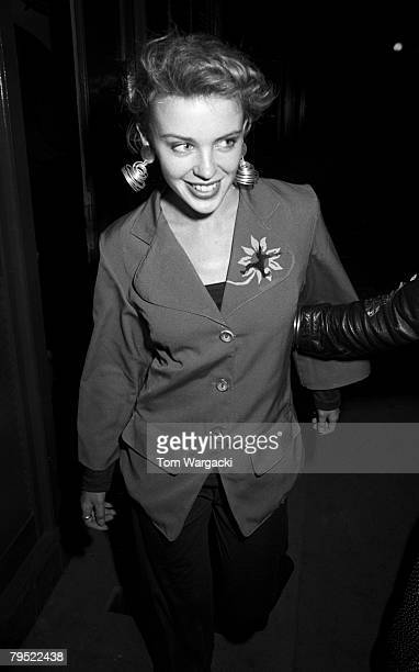 Kylie Minogue at Langan's Brasserie on July 22, 1988 in London, England.