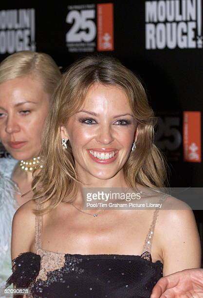 Kylie Minogue Attending The Royal Charity Premiere Of ' Moulin Rouge ' At The Odeon Leicester Square London In Aid Of The Prince's Trust