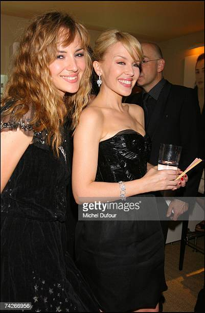 Kylie Minogue attends a dinner sponsored by magazine Madame Figaro to celebrate the Sixtieth Anniversary of the IFF on May 23 2007 in Cannes France