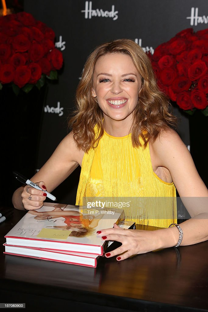 Kylie Minogue attends a photocall to launch her new book 'Kylie/Fashion' at Harrods on November 28, 2012 in London, England.