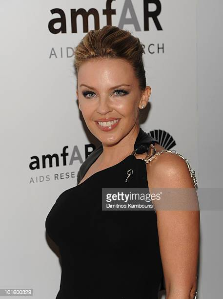 Kylie Minogue attends amFAR Inspiration Gala at the New York Public Libaray on June 3 2010 in New York City