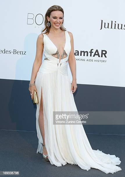Kylie Minogue attends amfAR's 20th Annual Cinema Against AIDS during The 66th Annual Cannes Film Festival at Hotel du CapEdenRoc on May 23 2013 in...