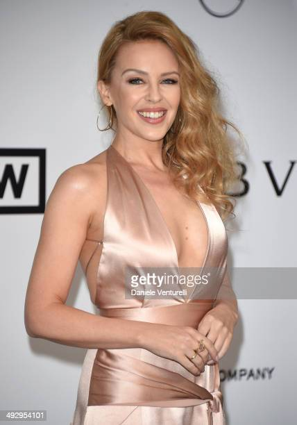 Kylie Minogue attends amfAR's 21st Cinema Against AIDS Gala Presented By WORLDVIEW BOLD FILMS And BVLGARI at Hotel du CapEdenRoc on May 22 2014 in...