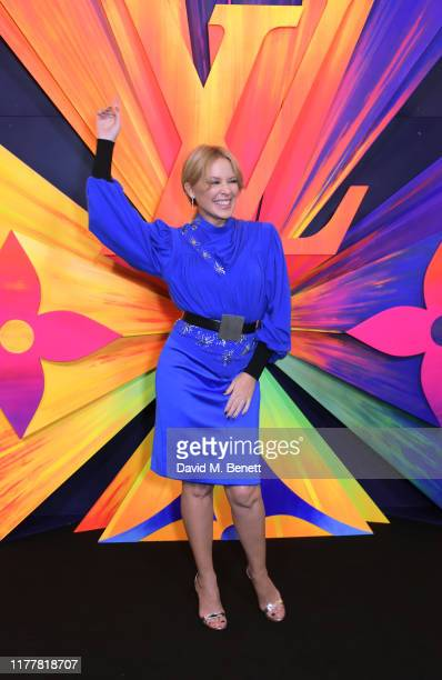 Kylie Minogue attends an after party celebrating the reopening of the Louis Vuitton New Bond Street Maison at Annabel's on October 23 2019 in London...