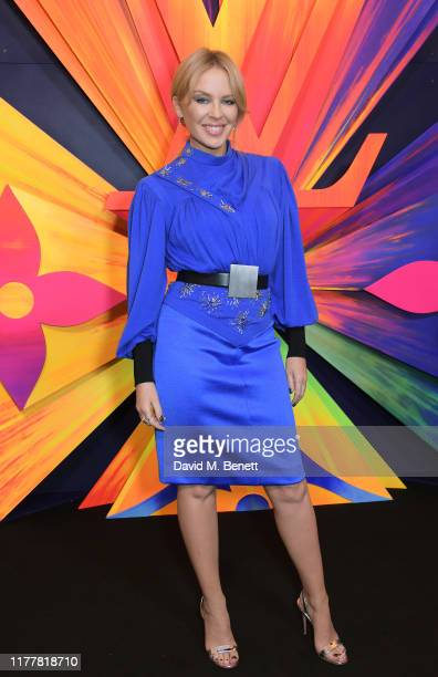 Kylie Minogue attends an after party celebrating the re-opening of the Louis Vuitton New Bond Street Maison at Annabel's on October 23, 2019 in...