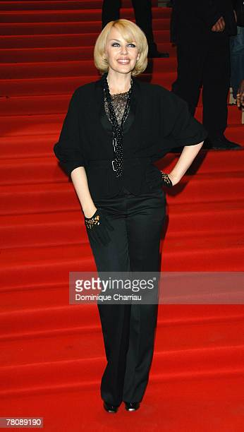 Kylie Minogue attends her album launch for X at Virgin Megastore on November 25 2007 in Paris France