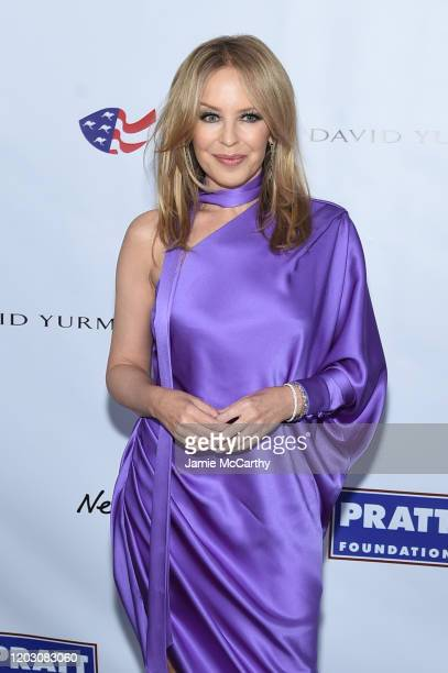 Kylie Minogue attends the 2020 AAA Arts Awards at Skylight Modern on January 30 2020 in New York City