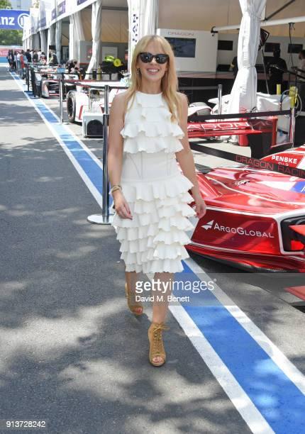 Kylie Minogue attends the ABB FIA Formula E Antofagasta Minerals Santiago EPrix on February 3 2018 in Santiago Chile