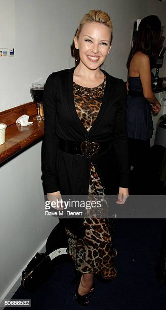 Kylie Minogue attends the afterparty following the press night of 'Small Change' at the Donmar Warehouse on April 15 2008 in London England