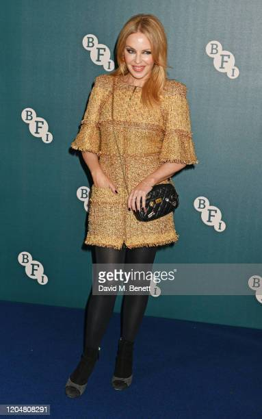 Kylie Minogue attends the BFI Chairman's dinner awarding Tilda Swinton with a BFI Fellowship at Rosewood London on March 2 2020 in London England