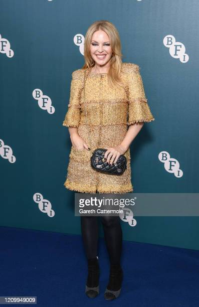 Kylie Minogue attends the BFI Fellowship 2020 at Rosewood London on March 02 2020 in London England
