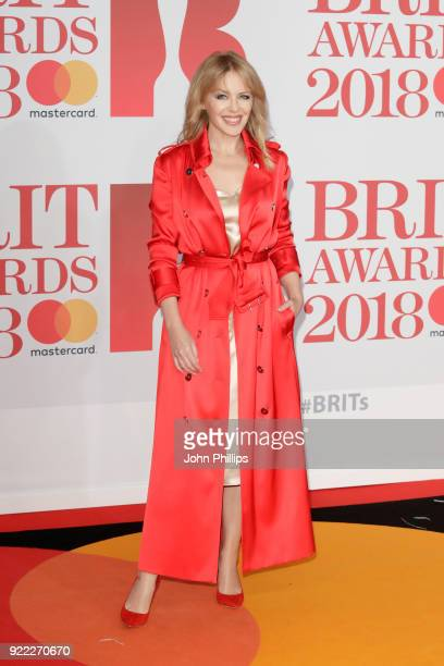 AWARDS 2018*** Kylie Minogue attends The BRIT Awards 2018 held at The O2 Arena on February 21 2018 in London England