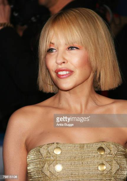Kylie Minogue attends the Echo Awards 2008 at the ICC Centre on February 15 2008 in Berlin Germany